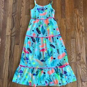 🔥🔥🔥Cat&Jack girls maxi flamingo dress 7/8